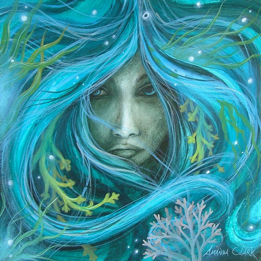 Sea Witch Painting  - Sea Witch Fine Art Print