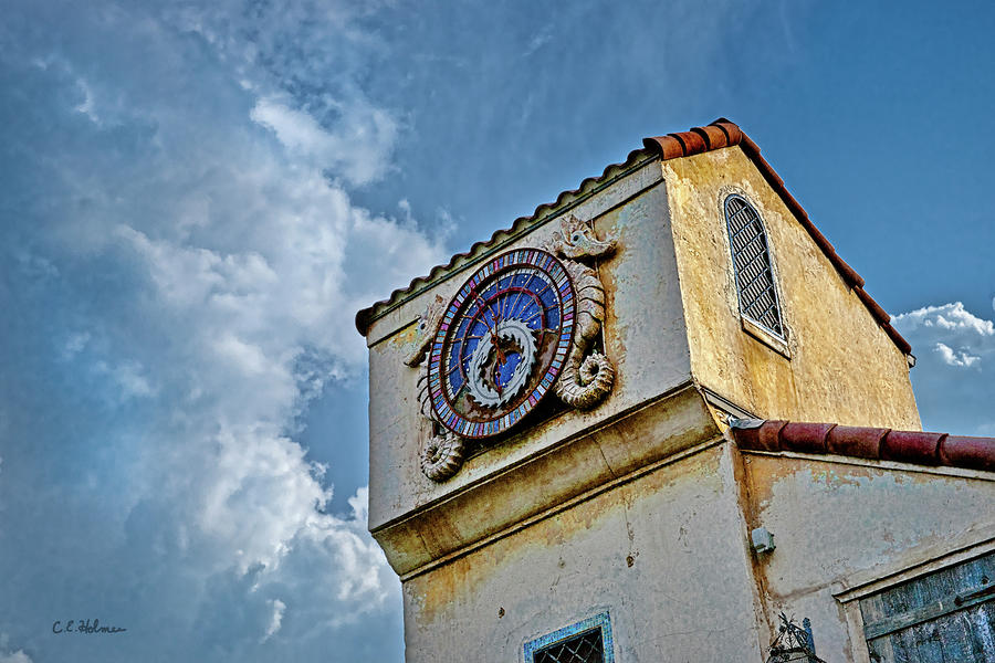 Seahorse Clock Photograph