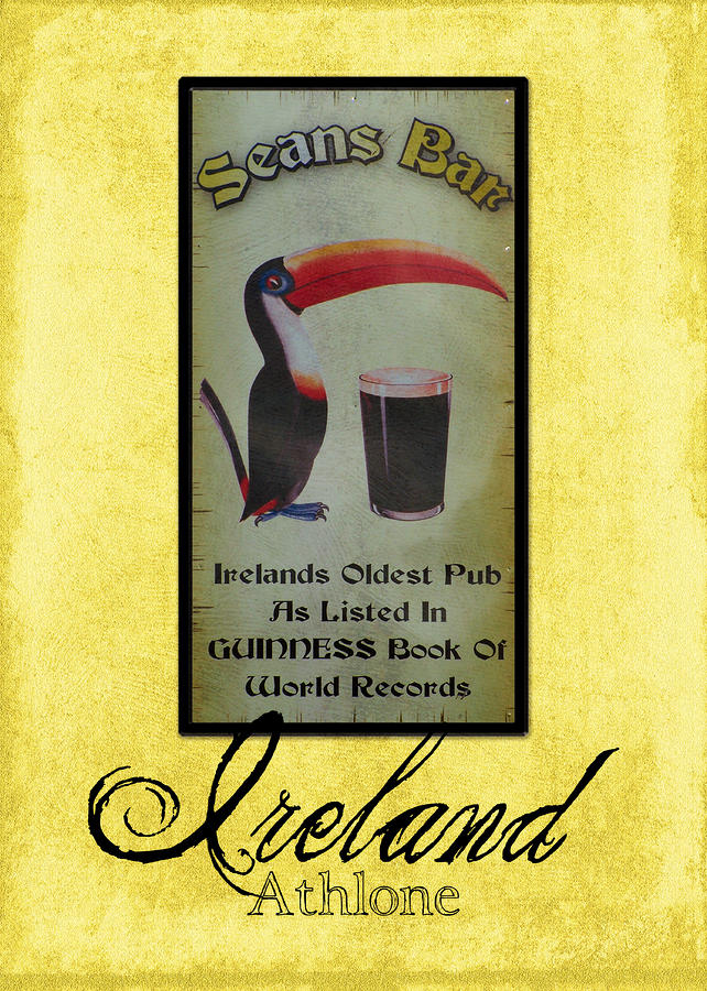 Seans Bar Guinness Pub Sign Athlone Ireland Photograph  - Seans Bar Guinness Pub Sign Athlone Ireland Fine Art Print