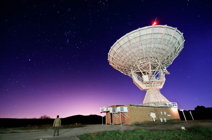Horizontal Photograph - Search For Extraterrestials by Photo by cuellar