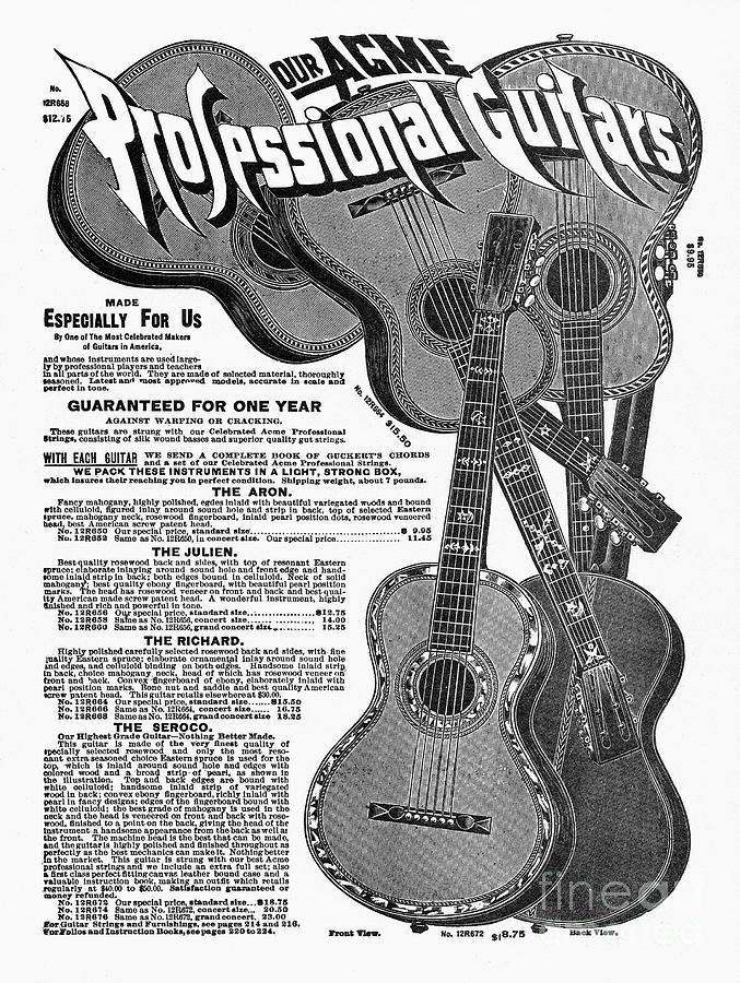Sears Ad - Guitars 1902 Drawing