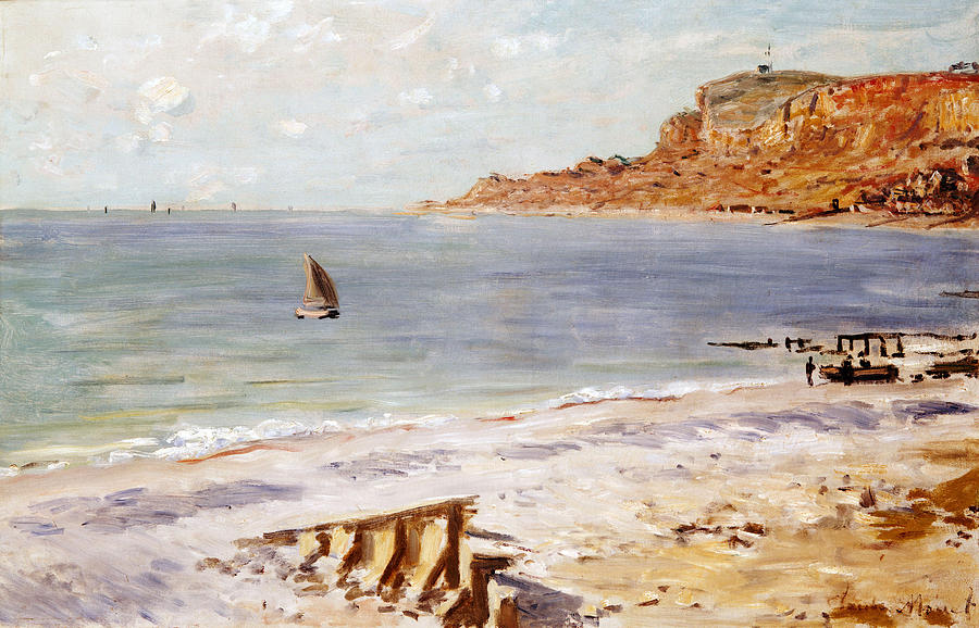 Seascape At Sainte Adresse  Painting  - Seascape At Sainte Adresse  Fine Art Print
