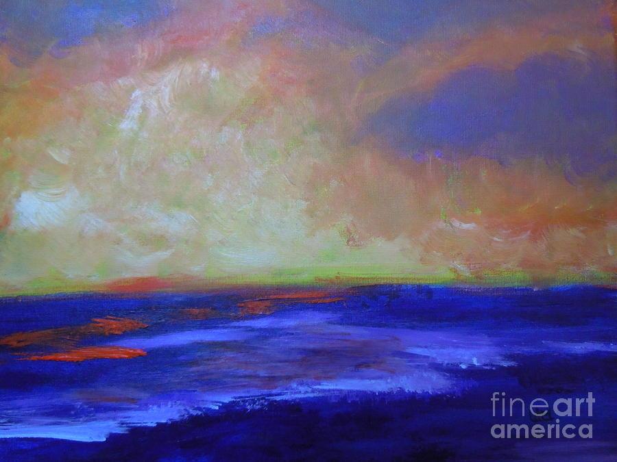 Seascape-golden Sunrise Painting