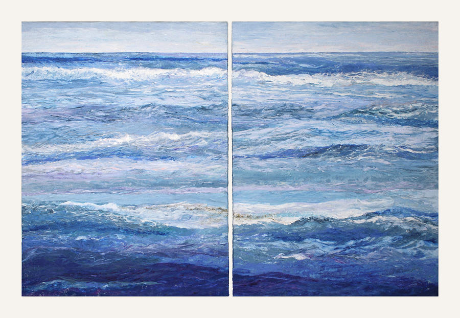 Seashore Diptych Painting