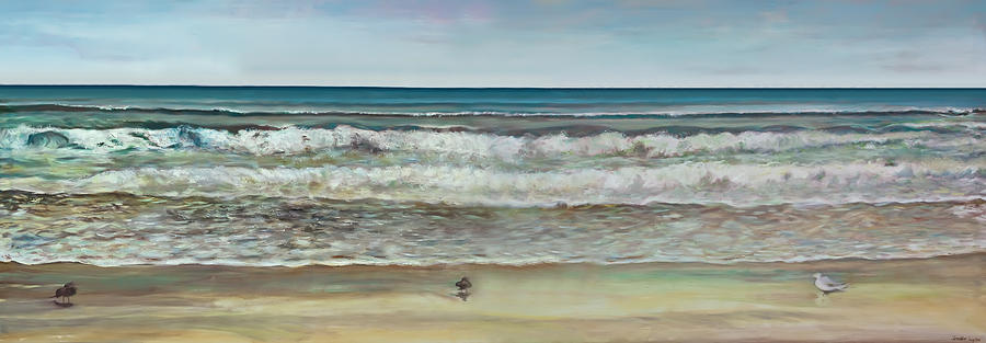 Seashore Panorama Painting  - Seashore Panorama Fine Art Print