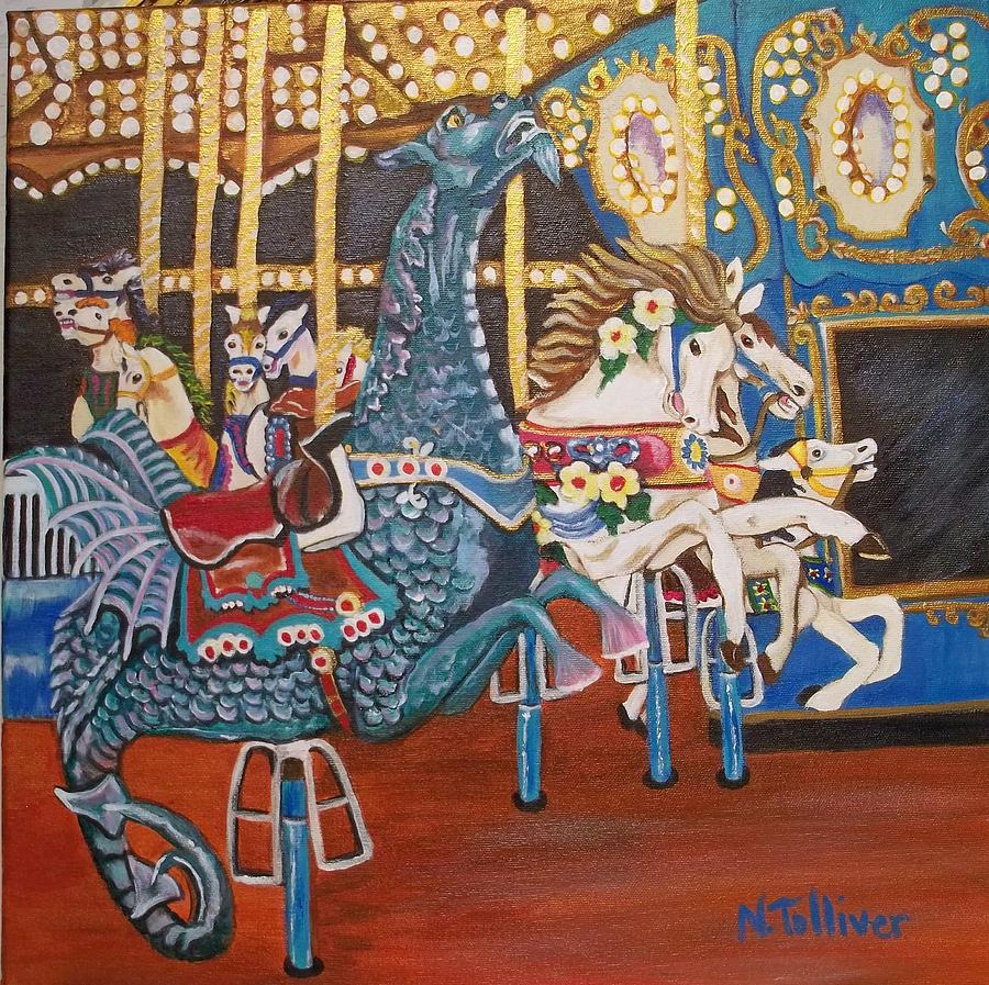 Seaside Heights Carousel Painting