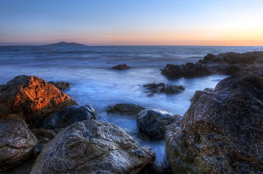 Dawn Photograph - Seaside Rocks by Svetlana Sewell