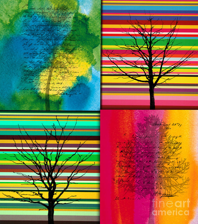 Seasons Painting  - Seasons Fine Art Print