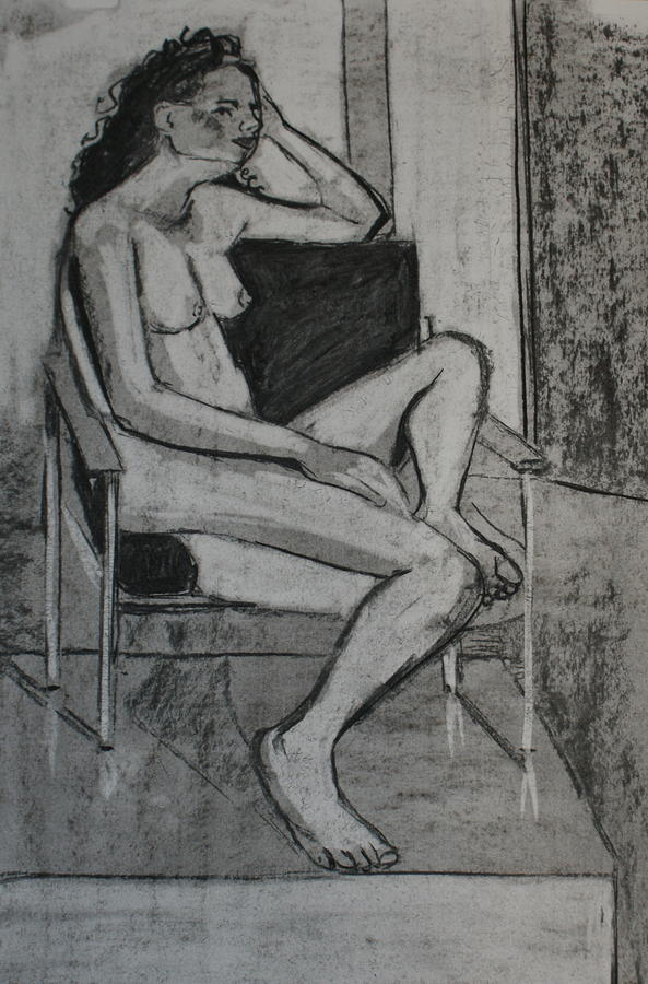 Seated Female Drawing  - Seated Female Fine Art Print