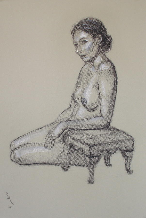 Seated Nude 3 Drawing