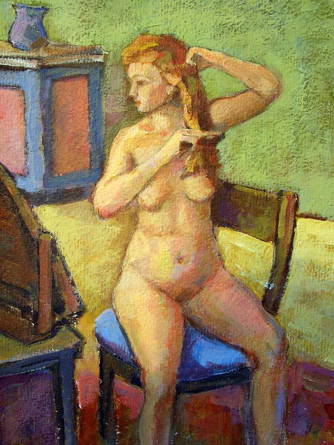 Seated Nude Woman Painting