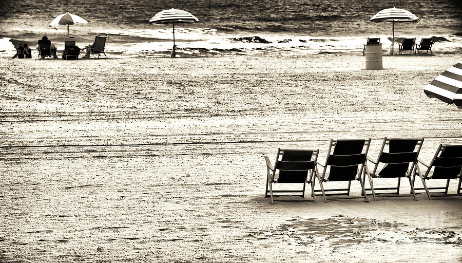Seats On The Beach Photograph