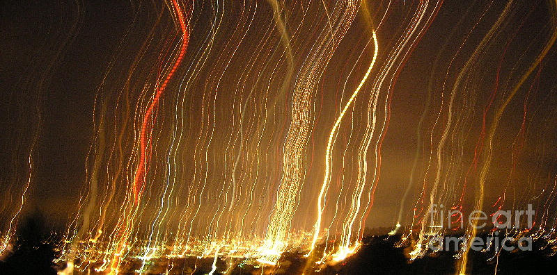 Seattle Burning At Night Photograph