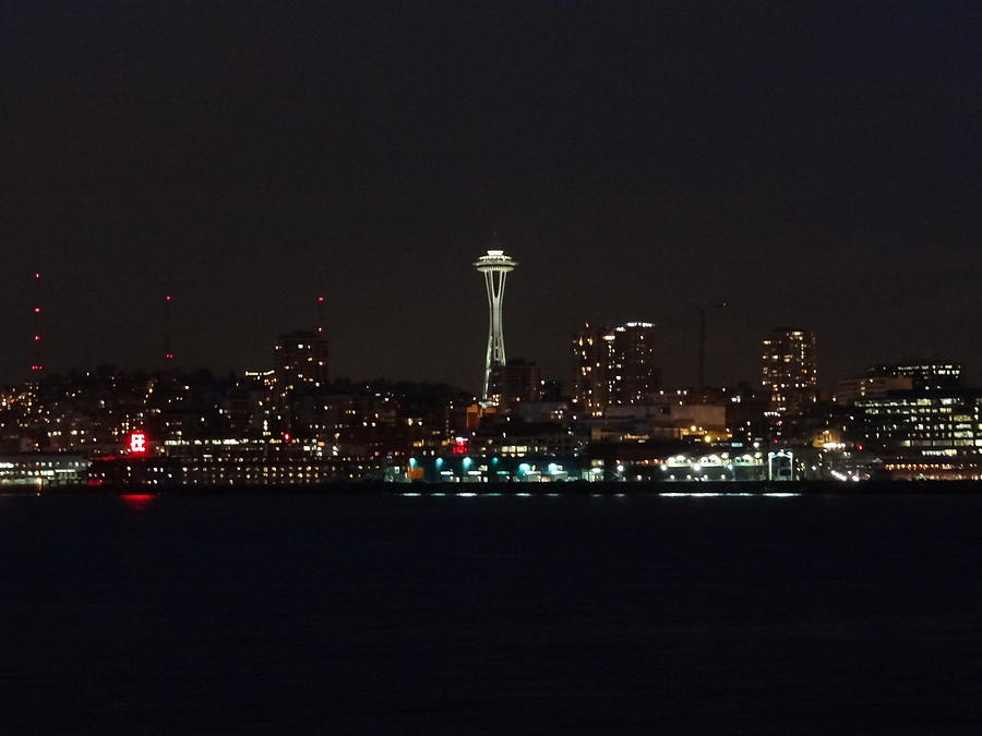 Seattle City Lights Photograph  - Seattle City Lights Fine Art Print