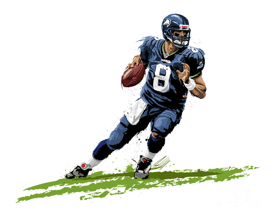 Seattle Seahawks Matt Hasselbeck Painting  - Seattle Seahawks Matt Hasselbeck Fine Art Print