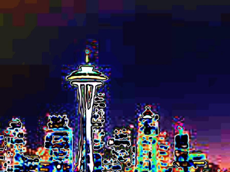 Seattle Skyline Photograph