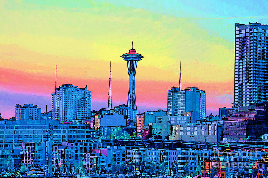 Seattle Space Needle Painting