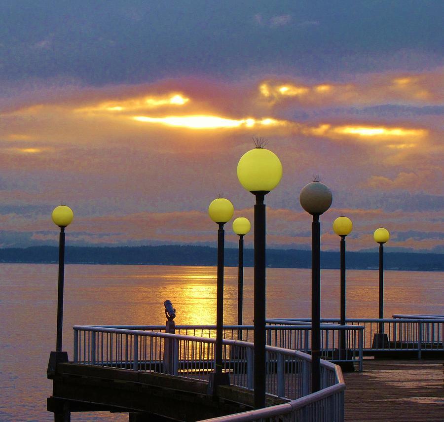 Seattle Sunburst Photograph