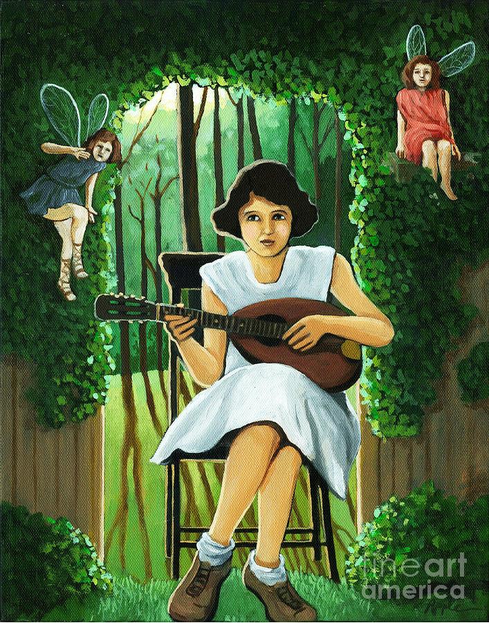 Fantasy Painting - Secret Garden Fantasy Fairy by Linda Apple