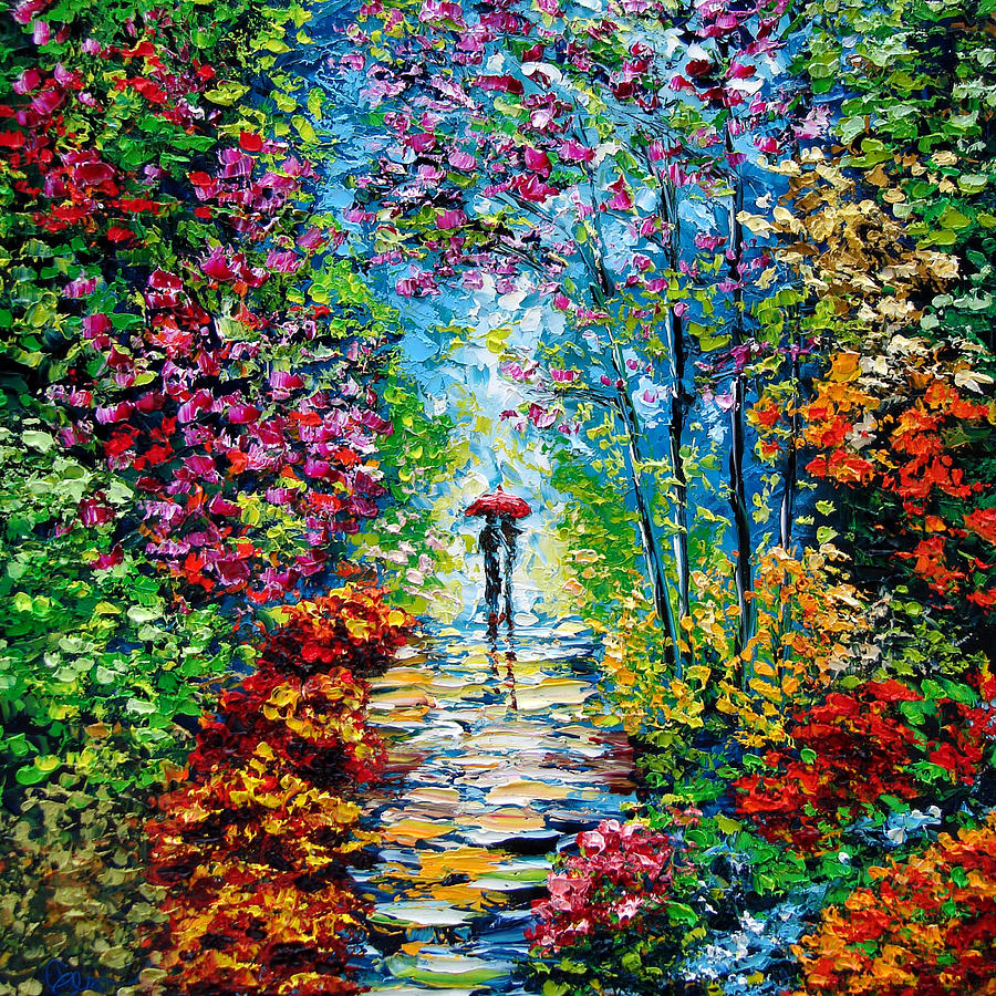 Secret garden oil painting b sasik by beata sasik for Garden painting images