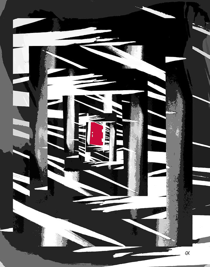 Secret Red Door Digital Art