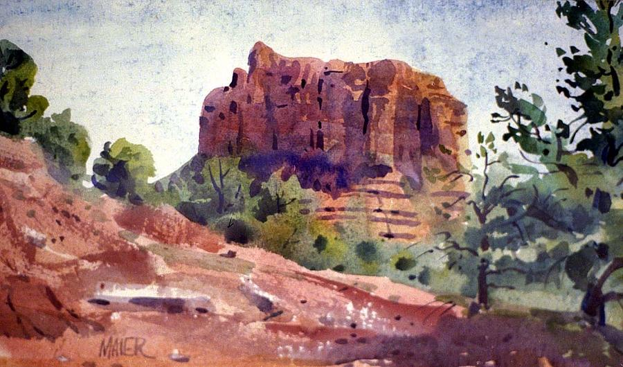 Sedona Butte Painting