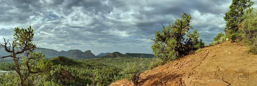 Sedona From The Top Of Jordan Trail Digital Art