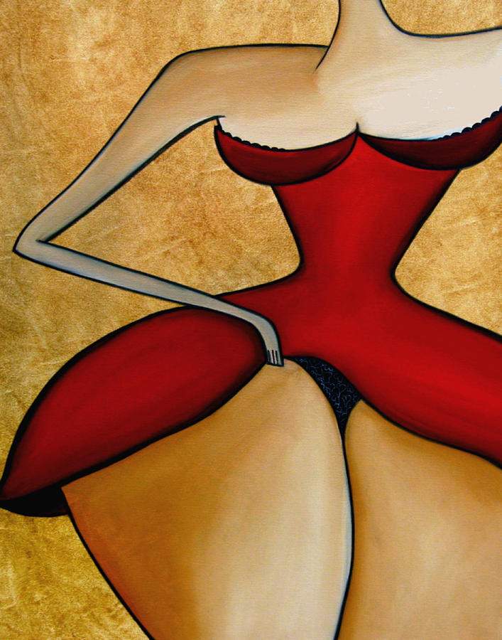 Seductress Painting  - Seductress Fine Art Print