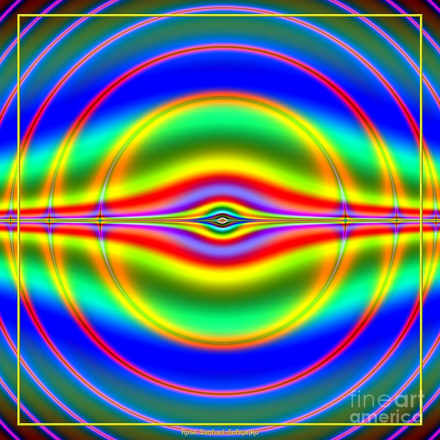 Seeing In Fluorescent Neon Fractal 135 Digital Art  - Seeing In Fluorescent Neon Fractal 135 Fine Art Print