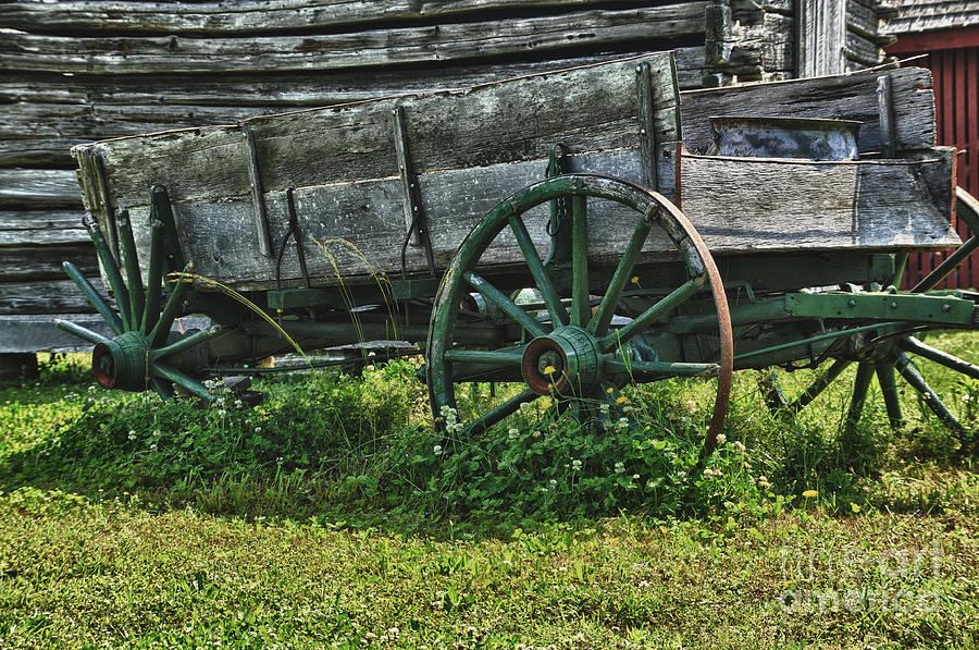 Wagon Photograph - Seen Better Days by Tamera James