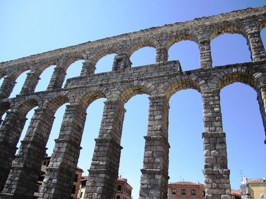 Segovia Ancient Roman Aqueduct Architectural Granite Stone