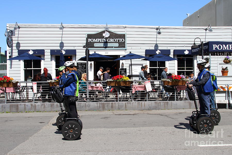 Segway Patrol At Pompeis Grotto Restaurant . Fishermans Wharf . San Francisco California . 7d14198 Photograph