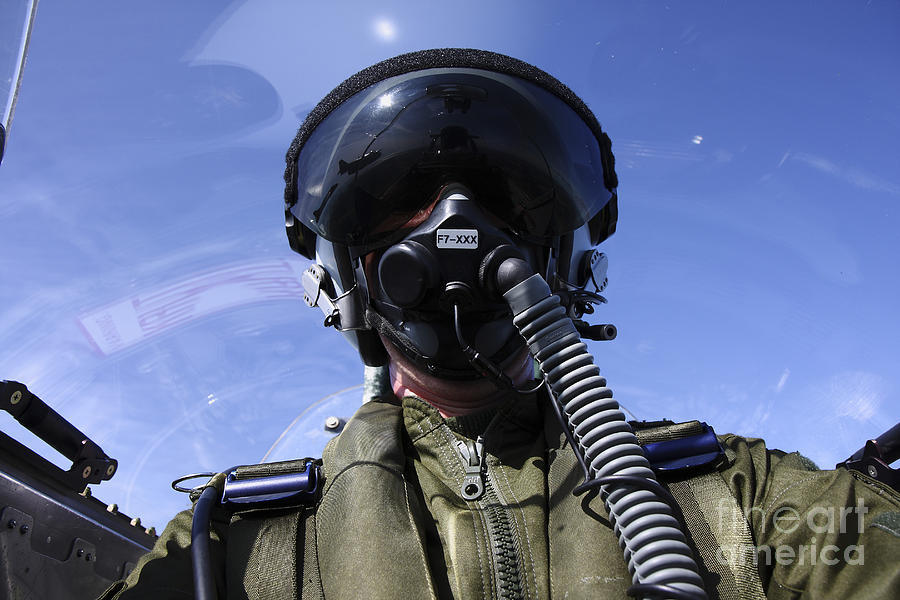 Self-portrait Of A Pilot Flying Photograph