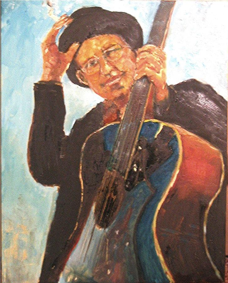 Self Potrait As Bob Dylan  Painting