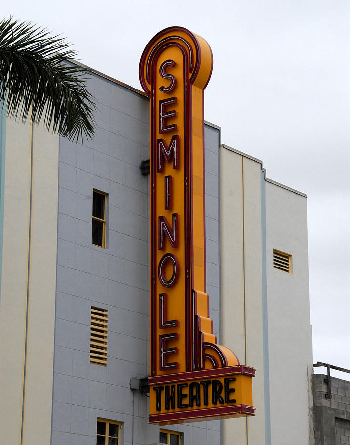Seminole Theatre 1940 Photograph  - Seminole Theatre 1940 Fine Art Print