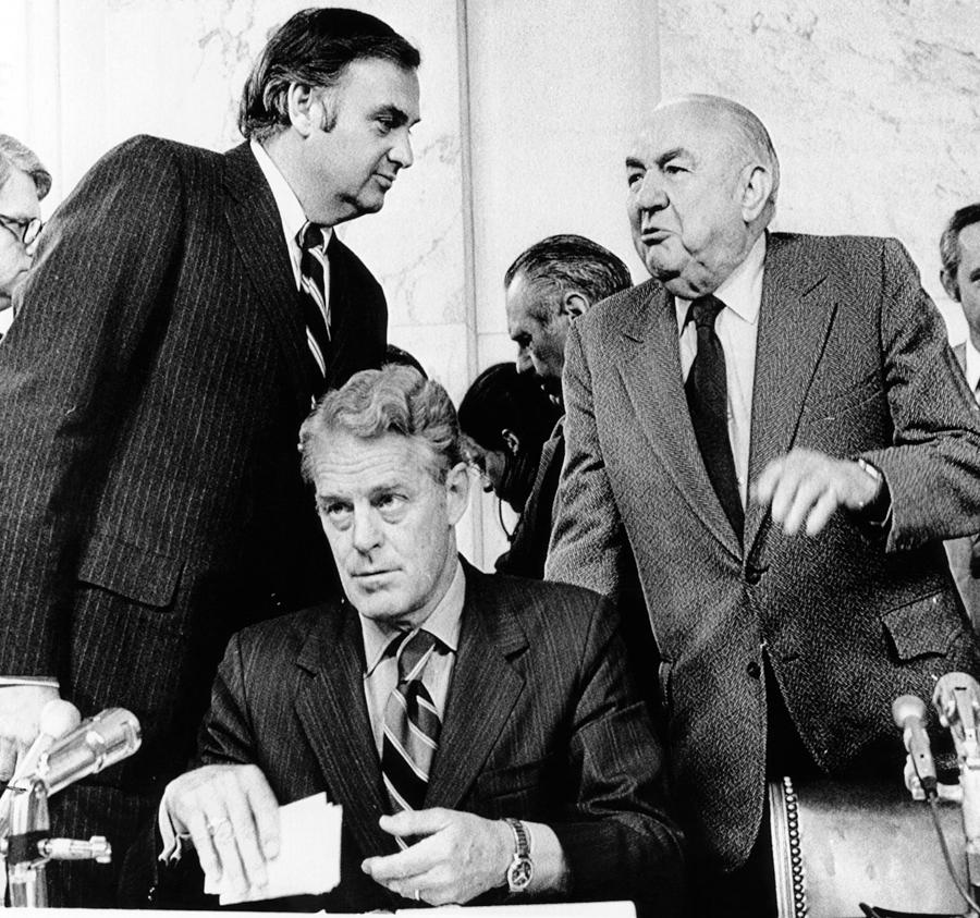Senate Watergate Committee. Members Photograph  - Senate Watergate Committee. Members Fine Art Print