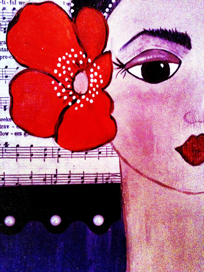 Senorita Con Flor Painting