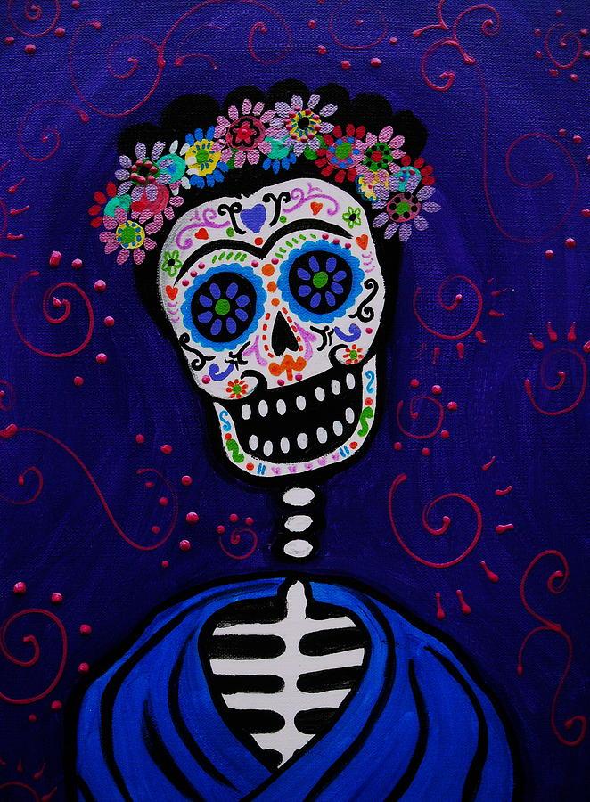 Frida Painting - Senorita Frida by Pristine Cartera Turkus