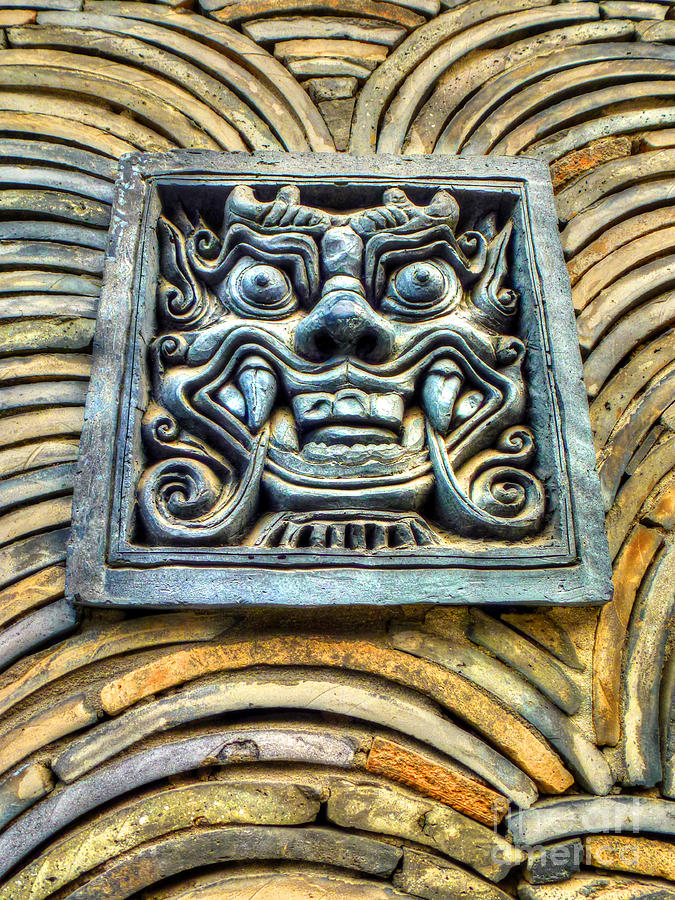 Seoul Mask Tile Photograph  - Seoul Mask Tile Fine Art Print