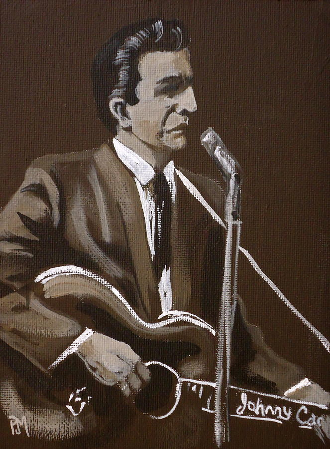 Johnny Cash Painting - Sepia Johnny by Pete Maier