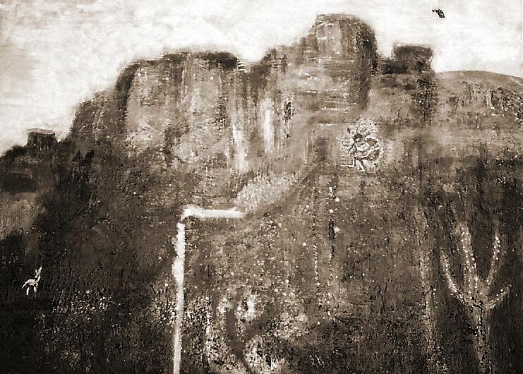 Sepia Version Of Mesa Painting Painting