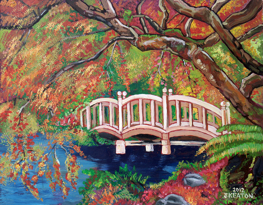 September Bridge Painting  - September Bridge Fine Art Print