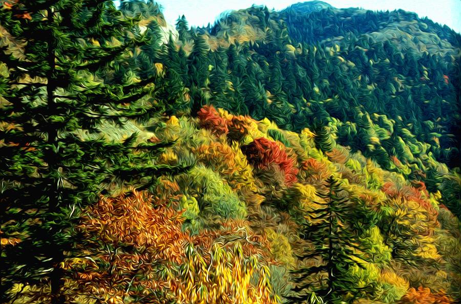 September Mountainside Digital Art