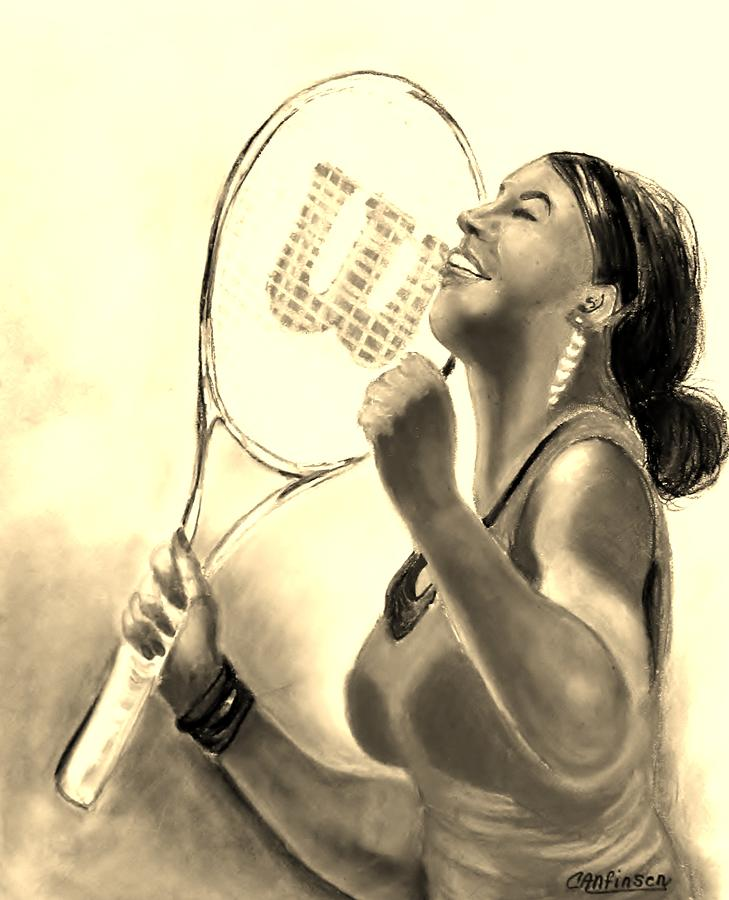 Serena In Sepia Drawing