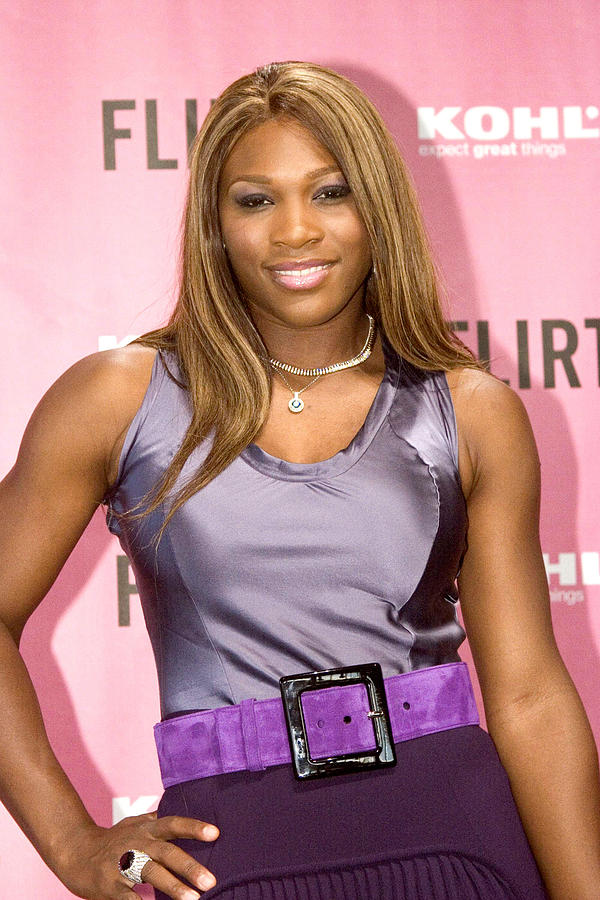 Serena Williams At The Press Conference Photograph