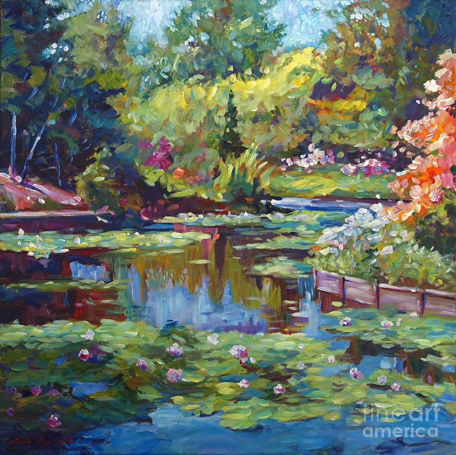Serenity Pond Painting  - Serenity Pond Fine Art Print