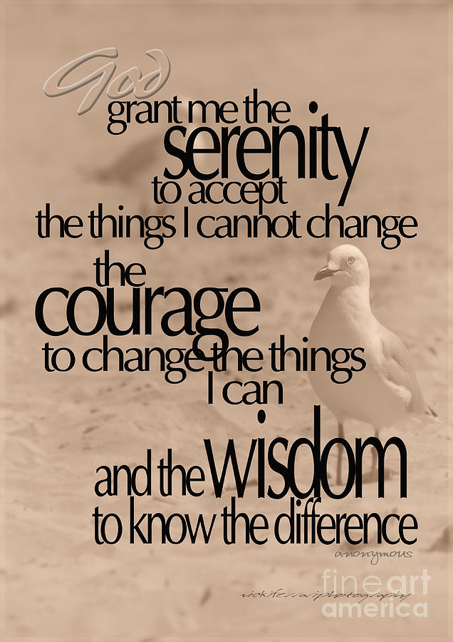 Serenity Prayer 04 Photograph  - Serenity Prayer 04 Fine Art Print