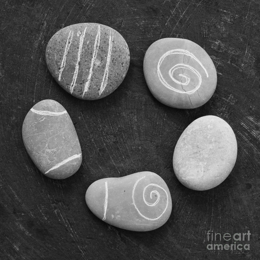 Stones Photograph - Serenity Stones by Linda Woods