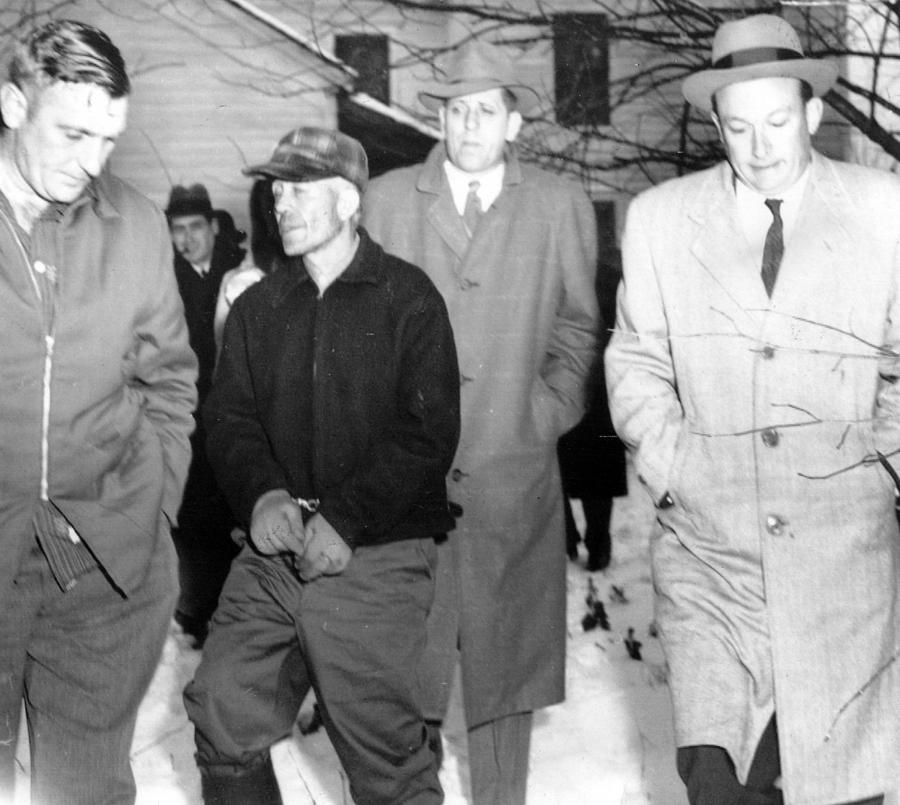 Serial Killer Ed Gein Is Led Away Photograph  - Serial Killer Ed Gein Is Led Away Fine Art Print