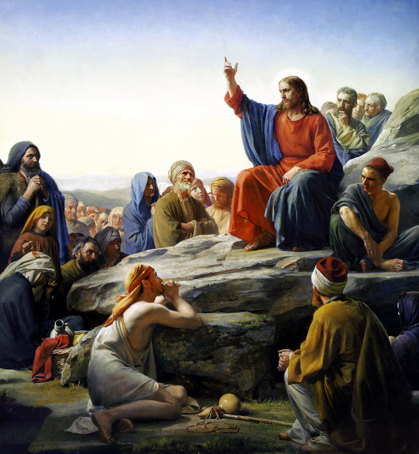 Sermon On The Mount Painting  - Sermon On The Mount Fine Art Print